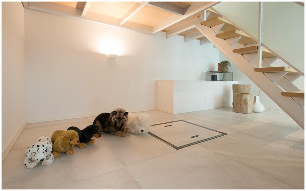 鉄骨系住宅 ABC加古川展示場 内観写真:うちそとテラス
