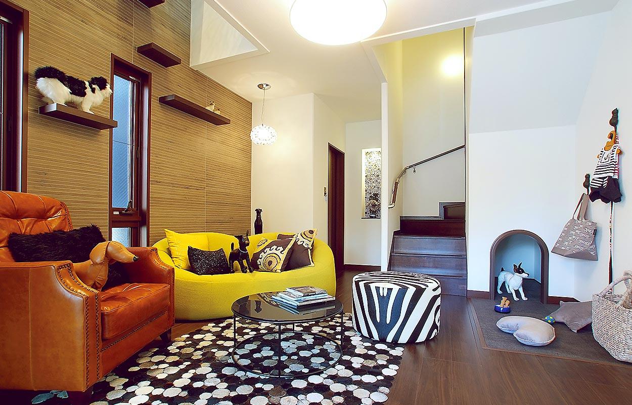 鉄骨系住宅 住まいの情報プラザ デシオ展示場 内観写真:リビングルーム
