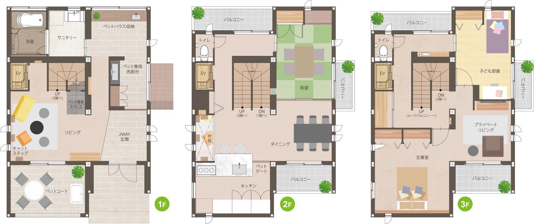 鉄骨系住宅 住まいの情報プラザデシオ展示場 間取り図