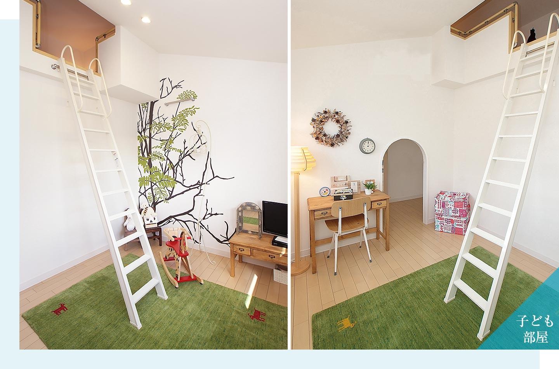 木質系住宅 ABC加古川展示場 内観写真:子ども室