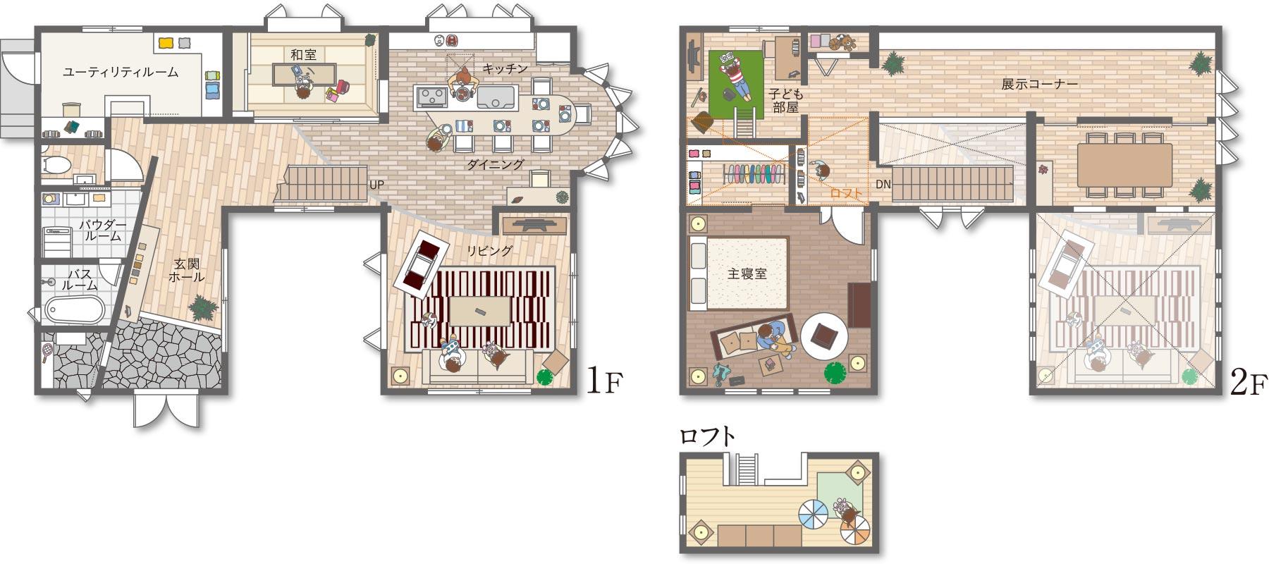 木質系住宅 ABC加古川展示場 間取り図