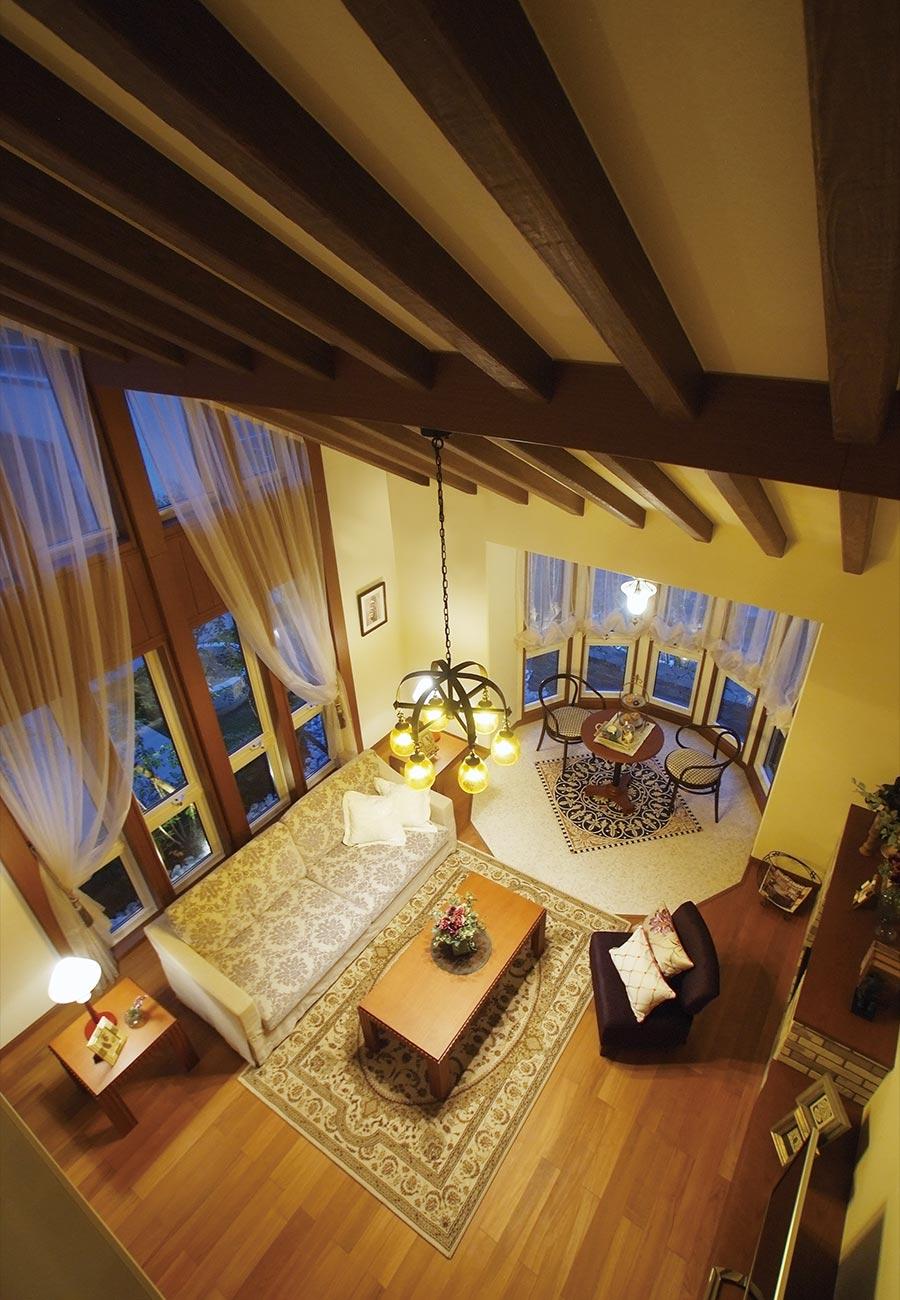 木質系住宅 姫路リバーシティ展示場 内観写真:リビングルーム