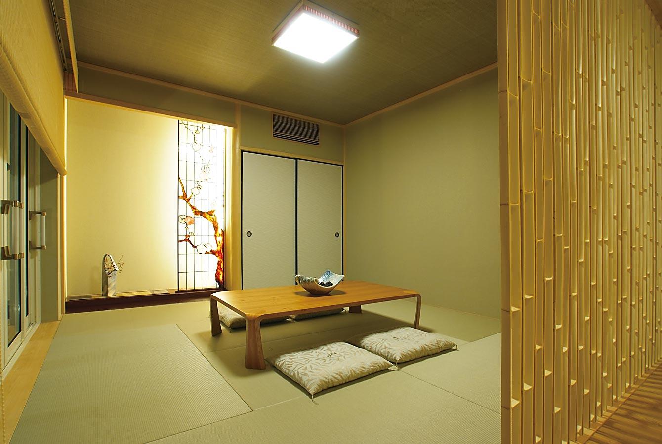 木質系住宅 姫路リバーシティ展示場 内観写真:和室01