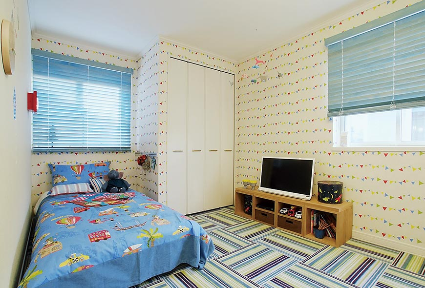 木質系住宅 姫路リバーシティ展示場 内観写真:子ども室