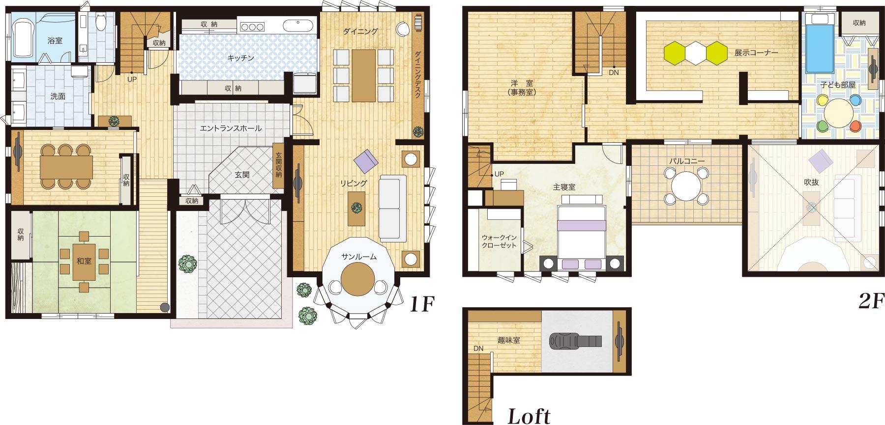 木質系住宅 姫路リバーシティ展示場 間取り図