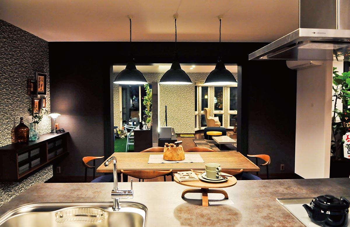 木質系住宅 加古川展示場 内観写真:ダイニングキッチン01