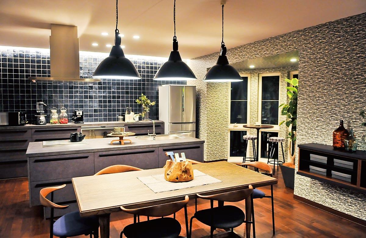 木質系住宅 加古川展示場 内観写真:ダイニングキッチン02