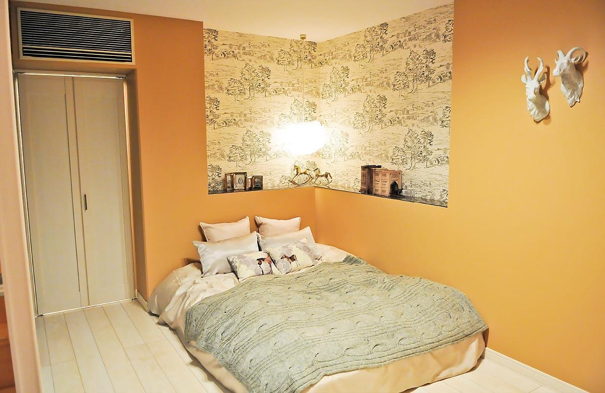木質系住宅 加古川展示場 内観写真:主寝室01