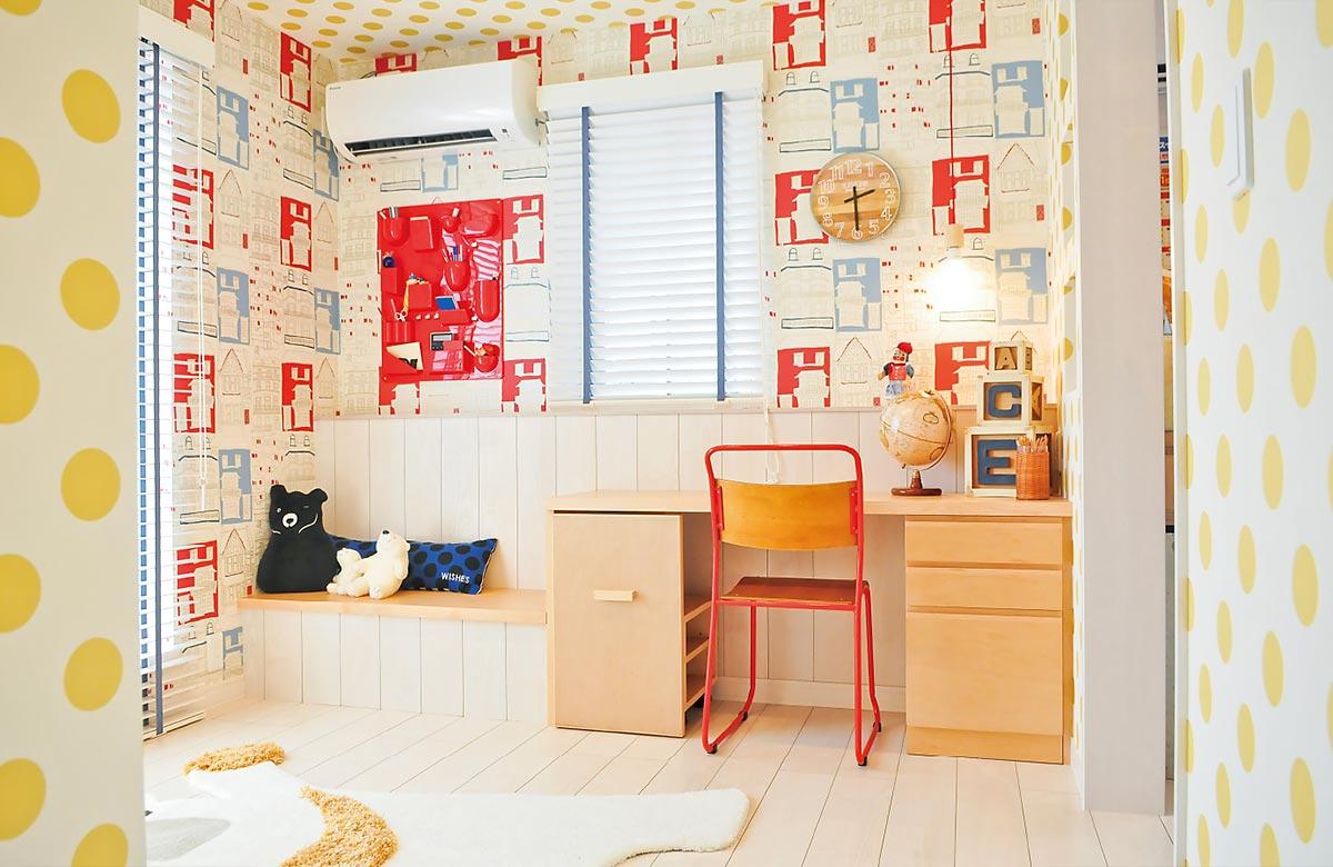 木質系住宅 加古川展示場 内観写真:子ども室