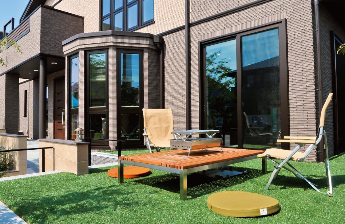 木質系住宅 加古川展示場 内観写真:アウトドアリビング