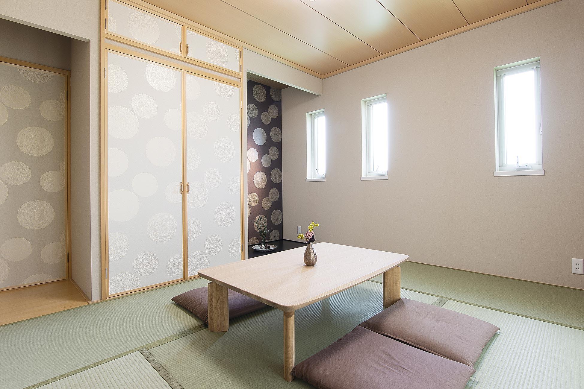 木質系住宅 山崎展示場 内観写真:和室